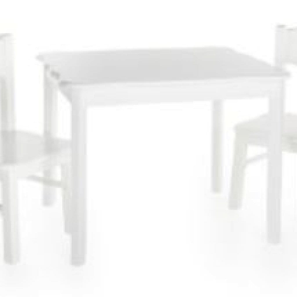 White Curved Top Table & Chair Set